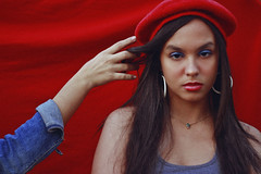 'In Between' Series (TheJennire) Tags: photography fotografia foto photo canon camera camara colours colores cores light luz young tumblr indie teen fashion style girl beret red makeup 2018 50mm hand people teenmodel look inbetweenseries photoseries