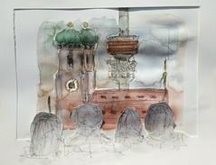 Wesentliche Tätigkeiten: Altstadtspatziergang (raumoberbayern) Tags: münchen munich watercolor aquarell sketch sketchbook skizzenbuch drawing painting urbansketchers robbbilder