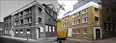 Rose Alley`1976-2018 (roll the dice) Tags: london southwark se1 old retro victorian bygone vanished demolished tate river thames surreal nostalgia comparison canon tourism tourists changes collection england urban classic art uk streetfurniture bollards architecture oldandnew pastandpresent hereandnow mad sad funpress media shakespeare globe dirty grim lights bankside dhl van windows theatre