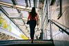 Back Girl (Calinore) Tags: france paris city ville girl femme fille woman back dedos metro subway stalingrade stairs escaliers parisiens parisiennes parisian