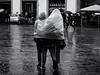 It's a Wrap! (Feldore) Tags: florence rain poncho plastic wrapped raining funny italy italian feldore mchugh em1 olympus 1240mm couple sharing rainwear