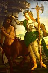Firenze aka Florence, Italy (Larry Lamsa) Tags: firenze florence italy lamsa uffizi uffizigallery botticelli pallas centaur