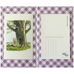 e011 - Winnie the Pooh, tree (Zaijda) Tags: tree girl pooh winniethepooh cute sweet postcard disney directswap snailmail card forswap