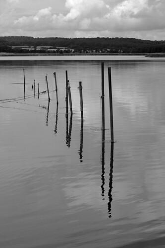 Stacks on lake Neuensiener See