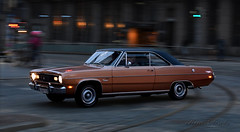 Scamp (Kim Drotz) Tags: plymouth valiant scamp 1972 classic car american cruising street night helsinki helsingfors