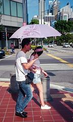 Strangers with brolly (waex99) Tags: 2018 35mmf35 ektar epson iiic kocak leica singapore summaron april v800 people brolly umbrella street chinatown