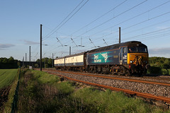 57303 5M59 copmanthorpe 13.05.2018 (Dan-Piercy) Tags: drs class573 57303 47705 beckitts crossing copmanthorpe 5m59 mossend upyard brush works loughborough ecml