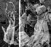 Dancers (soniaadammurray - On & Off) Tags: digitalphotography manipulated experimental collage abstract blackwhite monochrome dance dancers people movement ~~~monotones~~~ artchallenge artweekgallerygroup