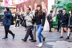 Has It Going On (burnt dirt) Tags: asian japan tokyo shibuya station streetphotography documentary candid portrait fujifilm xt1 laugh smile cute sexy latina young girl woman japanese korean thai dress skirt shorts jeans jacket leather pants boots heels stilettos bra stockings tights yogapants leggings couple lovers friends longhair shorthair ponytail cellphone glasses sunglasses blonde brunette redhead tattoo model train bus busstation metro city town downtown sidewalk pretty beautiful selfie fashion pregnant sweater people person costume cosplay denim blue bag shopping black