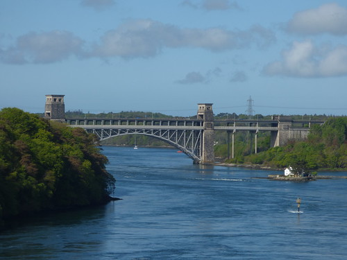Britannia Bridge from the Menai Suspension Bridge