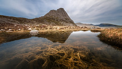 Far south face ..Tryfan (Einir Wyn Leigh) Tags: landscape walking hiking snowdonia wales light water reflection weather pleasure uk mountains