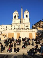 Spanish Steps 西班牙階梯 (MelindaChan ^..^) Tags: spanishsteps stair church worship pray 西班牙階梯 rome 羅馬 意大利 life heritage history