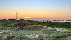 St Cuthberts sunset. (malcbawn) Tags: hermitage holyisland cross landscape sunset stcuthbertsisland northumberland