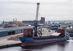 MV WILSON GHENT (fordgt4040) Tags: vessel ship boat nautical workboat cargoship merchantvessel moored berthed alongside nikon nikond750 digitalcamera nikkorlens mvwilsonghent portofleith firthofforth forth albertdockbasin eastcoast scotland leith