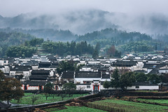 Ancient Village - Xidi (Picocoon图茧) Tags: landscape village mountain ancient cloud mist fog rain classicarchitecture traditional chinese xidi travel anhui china fairyland fantasy dream
