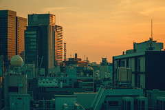 Sunset over Kanda (Laser Kola) Tags: tokyo city cityscape landscape japan laserkola lasseerkola sunset canon canon5dmkii evening goldenhour 100mm canonef100mf2 f8 nightview tokyostreets urbanlandscape urban citylife urbanexplorers exploring neoncity warm colorful colourful splittoning toning colours colors cinematic bigcity 2017 neotokyo cyberpunk futuristic