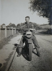 My dad 1943 (ART NAHPRO) Tags: despatch dispatch rider 1943 motorcycle ww2 rasc border regiment