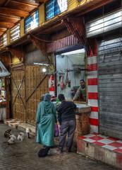 Marocco #5 (celestino2011) Tags: gatti macellaio carne medina fés marocco vicoli travel