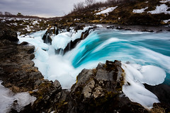 Hlaupstungafoss (modesrodriguez) Tags: iceland waterfall landscape water long exposure silkeffect flow rocks travel turquoise