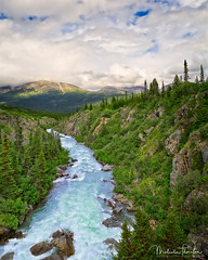 Tutshi River Canyon (Malcolm Thornton Photography) Tags: ifttt 500px bodies of water british columbia canada canyon cloud clouds cloudscape cloudy fraser gorge gulch landscape landscapes mountain pass range nature north america rapids river sky tutshi valley white yukon bodiesofwater britishcolumbia mountainpass mountainrange northamerica tutshiriver whitepass whitewater