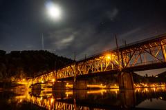 Bridge Bullay - Germany (Maxilo311) Tags: bridge brücke nacht night sky moon mond langzeitbelichtung longexposure alpha sonyalpha6000 alpha6000 sony kit water river reflection germany deutschland
