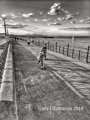 Scooters into the sunset (garylestrangephotography) Tags: garylestrangephotography bray wicklow ireland street beach coast black white grey phonecamera