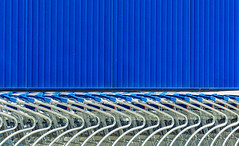 Abstract (J Wells S) Tags: abstract patterns carts blue silver wall ikea westchester cincinnati ohio lines curves shadows