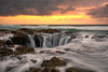 Thors Well (Eric Zumstein) Tags: oregon thorswell florence unitedstates us ocean sea sunset canon