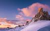 Dolomitic winter harmony (Ettore Trevisiol) Tags: ettore trevisiol nikon d7200 d300 friuli tree sunset blue hour goldenhour dolomiti snow cortina dolimites winter