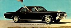 1964 Oldsmobile F-85 V-6 Sports Coupe (aldenjewell) Tags: 1964 oldsmobile f85 v6 sports coupe postcard
