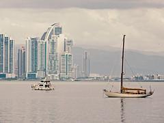 Panama bay (Bernal Saborio G. (berkuspic)) Tags: panama sea boat sailboat city bay buildings