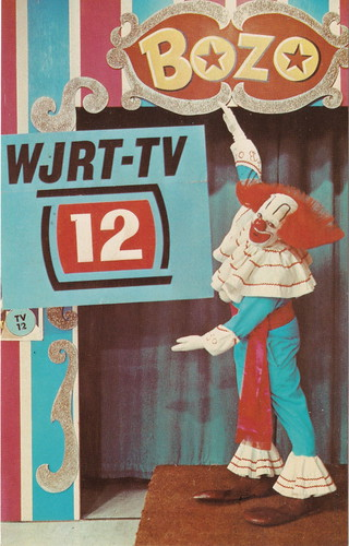 SE Flint MI BOZO THE CLOWN on WJRT-TV CHANNEL 12 Show was called Bozo's Big Top Bozo's TELEVISION AMUSEMENT autograph is printed, not written on the card BOZO was Earl Frank Cady