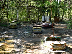 Dodgems at Pripyat Amusement Park (chibeba) Tags: chernobyl chornobyl exclusionzone exclusion zone ukraine radiation radiationzone holiday vacation tour daytour tourism travel may 2018 spring abandoned pripyat prypiat pripyatghosttown ghosttown abandonedtown 1980s ruins pripyatamusementpark amusementpark abandonedamusementpark abandonedthemepark abandonedrides rides dodgems abandoneddodgems