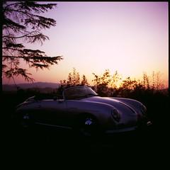 356 (Olly Denton) Tags: car sunset tree porsche speedster 356 porsche356 silver reflection war light design curves film analog filmisnotdead ishootfilm hasselblad hasselblad500cm 500cm fujifilm slide zeiss planar 100iso coldipozzo promano cittadicastello umbria italy italia