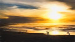 6694TSc  Impressions of Asilomar (foxxyg2) Tags: sun sunset impressions topaz topazsoftware sky asilomar asilomarbeach montereypeninsula california