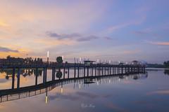 Lower Seletar Reservoir (jacysf) Tags: reservoir sunrise lowerseletar explore waterscape water waterway bridge throughherlens mirrorimage reflections