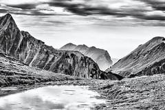 Mirror in the Mountains... (Ody on the mount) Tags: anlässe berge em5 himmel kleinwalsertal mzuiko1250 omd olympus spiegelung urlaub wanderung wolken bw clouds monochrome mountains sw sky österreich