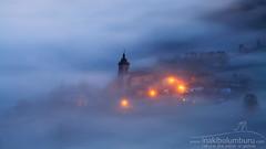 THE BENT CROSS (Obikani) Tags: aramaio álava araba sunrise village church mist atmosphere light euskadi euskalherria beauty landscape valley canonikos