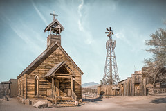 Silent Church (emiliopasqualephotography) Tags: green churchmsteeple woodenchurch historical rural goldfieldaz apachejunction arizona west