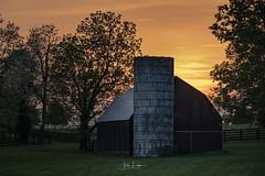 """""""Pisgah Pike"""" (the_lowe_life) Tags: afterglow dusk kentucky spring bluegrass farm lexington kentuckykicksass photography color barn country 70200 tamron d750 nikon sunset"""