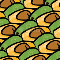 seamless pattern of avocados (Hebstreits) Tags: art avocado background brown cartoon cut delicious design diet drawing drawn eating exotic food fresh fruit graphic green half hand health healthy illustration ingredient isolated natural nature nutrition organic pattern raw ripe seamless section seed slice summer tasty textile texture tropical vector vegan vegetable vegetarian vitamin wallpaper watercolor white yellow