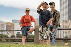 caught something - 何を採ったのかな (turntable00000) Tags: hamarikyuu gaeden kids child tokyo japan minato 2018 flickr anniversary penguin family