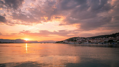 Trogir Sunrise. (laurilehtophotography) Tags: croatia trogir old town city europe visit holiday travel trip vacation sunrise sea reflections clouds landscape nature mountains amazing nikon d750 sigma 20mm art wideangle summer world heritage unesco