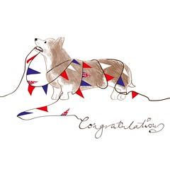 The Corgi Clean-Up Team (DobingDesign) Tags: royalwedding illustration fun corgi bunting sketch congratulations cleanup aftertheparty cartoon royaldogs royal