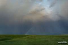 Moonbow (kevin-palmer) Tags: stormy storm thunderstorm weather clouds may spring sky night midnight rain sheridan wyoming nikond750 tamron2470mmf28 moonbow green rolling hills bow rainbow grass grassy wet lunar rare