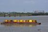 Thames Path (John A King) Tags: thames path gas holder rubbish barges