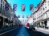 Royal Wedding Union flags on Regent Street, London (The Phoenix Girl) Tags: flags regentstreet oxfordcircus uk england street urban ukflags unitedkingdom composition perspective traffic royalwedding europe londoner city londonist cityscape nikon greatbritain architecture