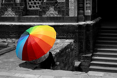 (Rishabh_Sharma_In) Tags: adobe photoshop lightroom color colorpop red yellow blue green orange purple street photography india delhi concept idea isolated canon eos 1200d beautiful girl umbrella women architecture old monument historical building hot flickr supershot new