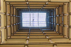 Upward (mstrellish) Tags: flickrfriday lowangle atrium lookup skylight balcony chicago il macys statestreet travel adventure explore city citylife tallbuilding columns pillars layers old directional line directionalline