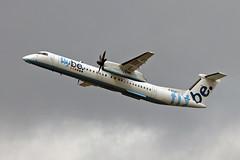 G-ECOF DHC-8Q 402 Flybe MAN 18-04-18 (PlanecrazyUK) Tags: egcc manchester man ringway manchesterairport gecof dhc8q402 flybe 180418